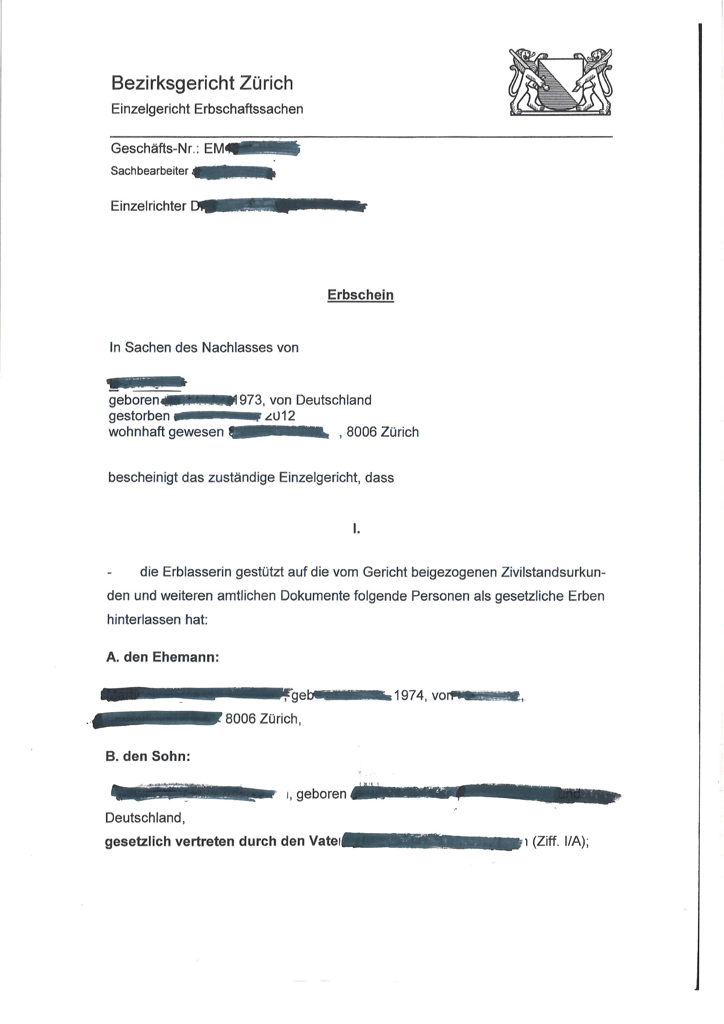 Letter Of Probate Scotland Sample