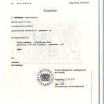 German Certificate of Inheritance - Grant of Probate (Erbschein)